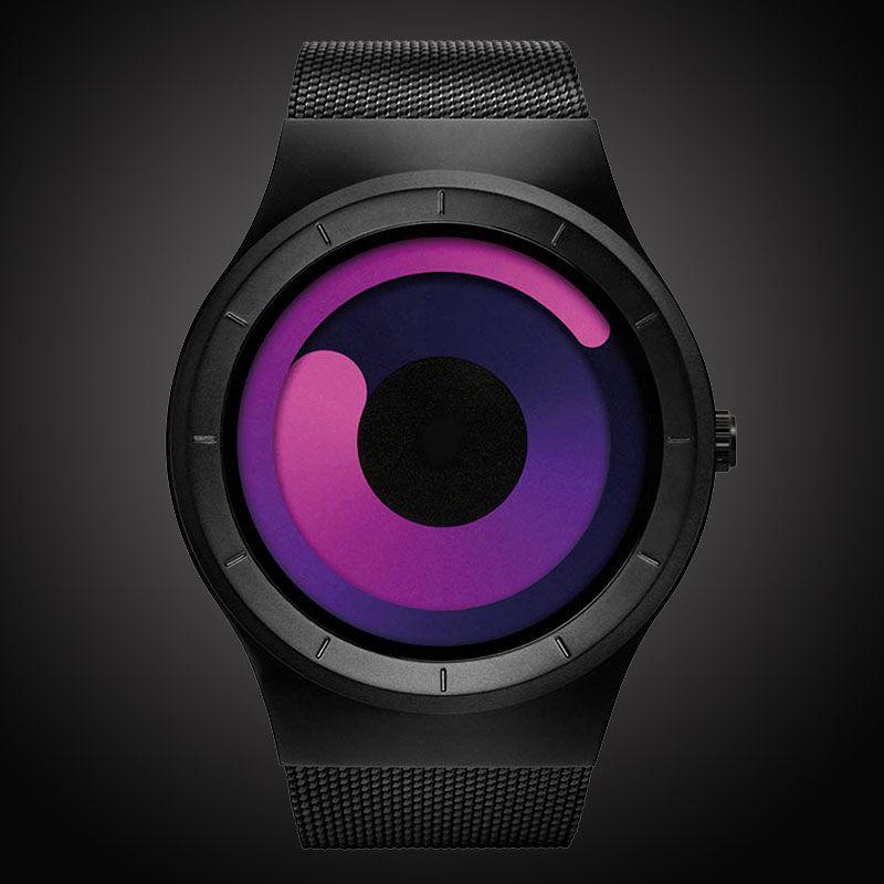 Top Brand Men's Quartz Watches Man Casual Stainless Steel Mesh Strap Quartz-Watch Fashion Male Clock Style Relogio Masculino