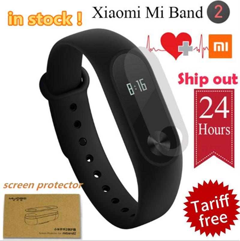 EN STOCK! 100% D'origine Xiaomi Mi Bande 2 Miband2 Bracelet Smart Bracelet avec Smart Bande de Fréquence Cardiaque Fitness Touchpad Écran OLED