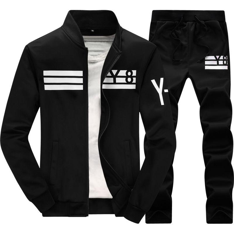Sportwear Pants 2018 New Autumn Tracksuit Man Men Fashion Brand Tracksuits Outwear Set 2 pieces Sportswear Sweat Suit Men