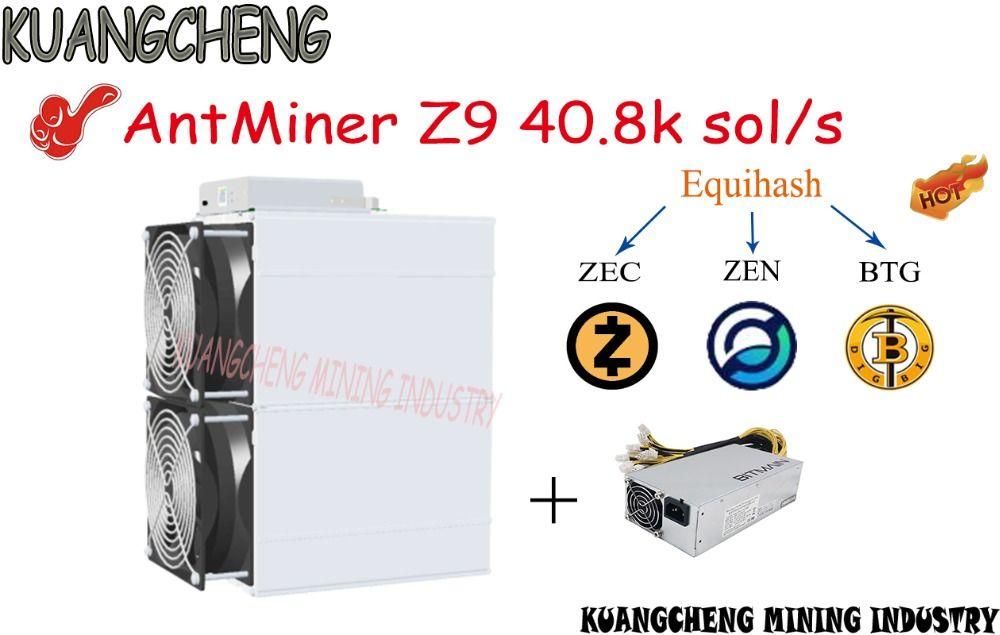 Alte 90% neue asic ANGCHENG AntMiner Z9 40,8 k sol/s mit NETZTEIL entspricht vier Antminer z9 mini kann graben ZEC ZEN BTG BTc münzen