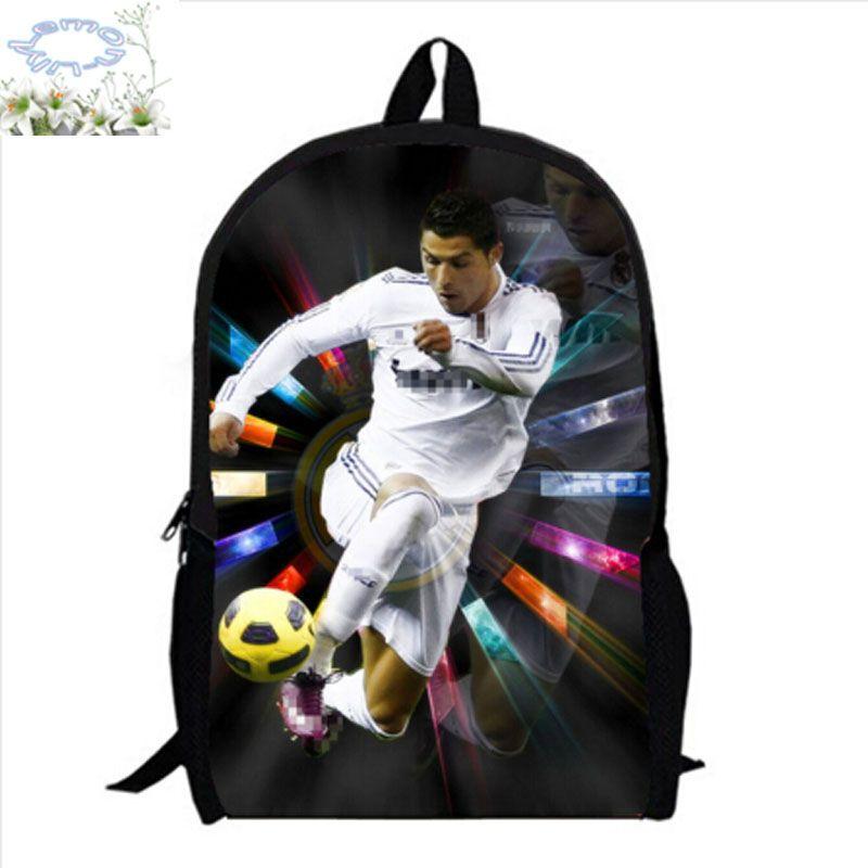 <font><b>16Inch</b></font> Cristiano Ronaldo Backpack Customized Mochila Masculina Travel Bag Mochila Escolar Teenage Free Shipping A046