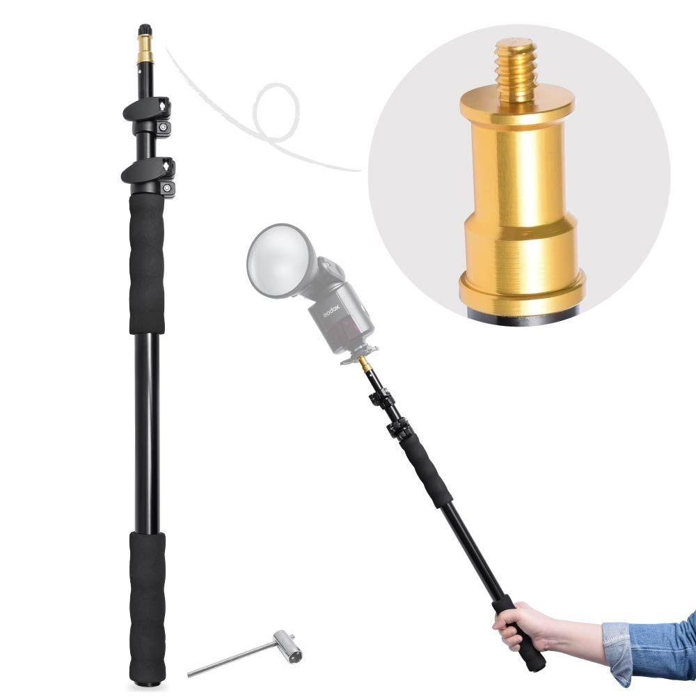 Fotoconic 158 cm Aluminium Legierung Teleskop Licht Boom Pole Halter Stick Verlängerung Unterstützung Stange Hand Grip Rig-Speedlite