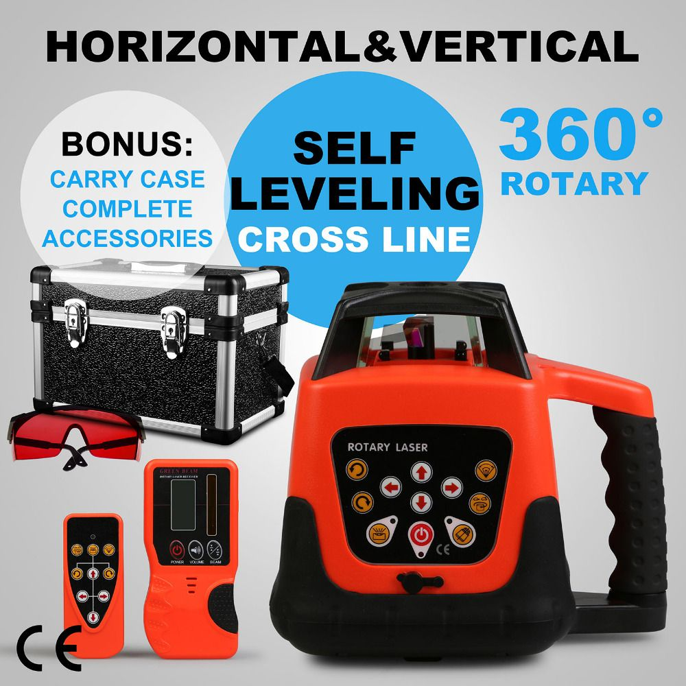 Quality Guaranteed Automatic Self-leveling Rotary Red Laser Level 500m Range