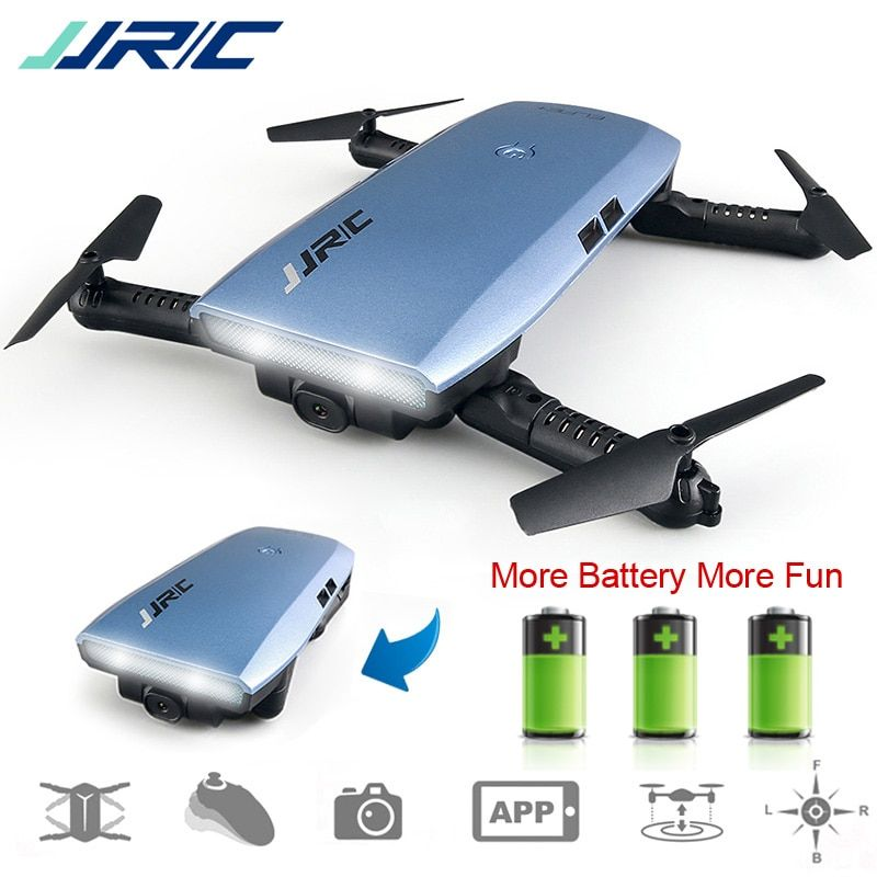 JJRC H47 Selfie Drone with HD Camera WIFI Gravity Sensor Foldable Arm RC Drone Quadcopter Helicopter VS H37 Mini Eachine E56