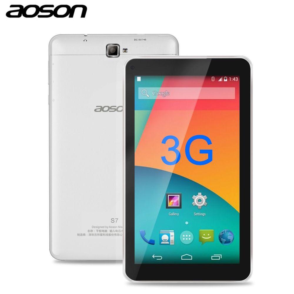 Nouveau! aoson S7 + 7 pouce 3g CARTE SIM Android 7.0 Comprimés Téléphone Appel Tablet pc Quad Core 16 gb PAD Double Caméra GPS WIFI Bluetooth IPS