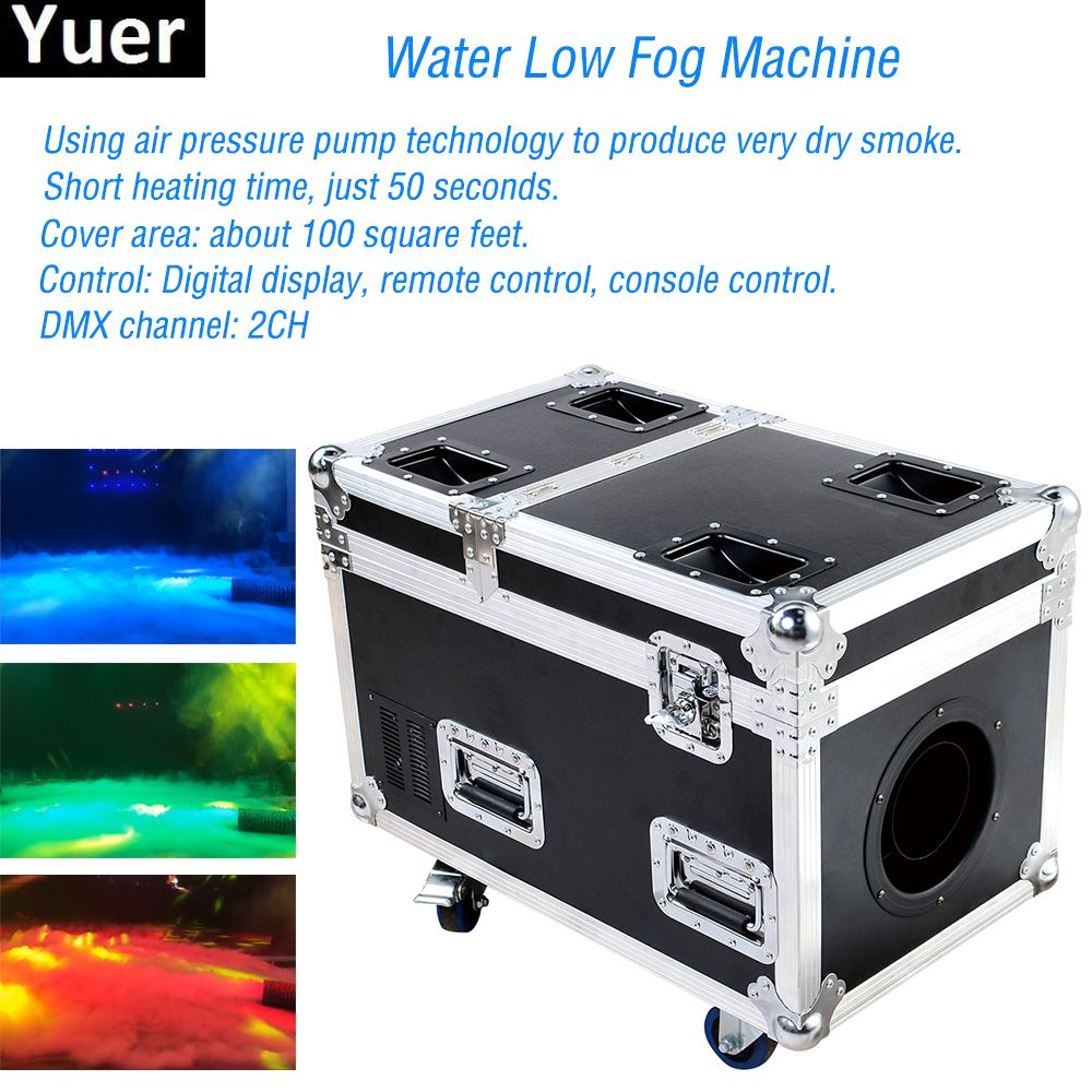 Professional Stage Dj Equipment DMX 3000W Water Low Fog Machine Create Dry Ice Effect Stage Ground Low Water / Free Shipping