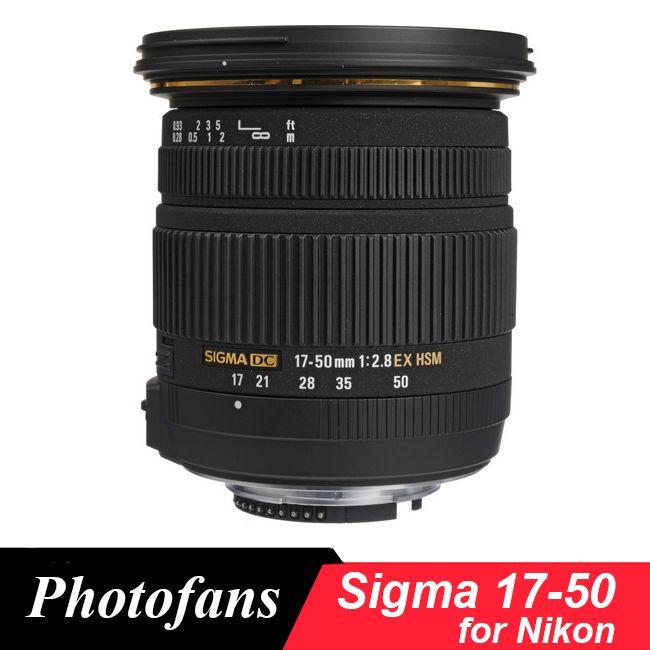 Sigma 17-50 Sigma 17-50mm f/2,8 EX DC OS HSM Objektiv für Nikon D5600 d5500 D5300 D5200 D7500 D7100 D7200 D500 D3400 D3300 D500