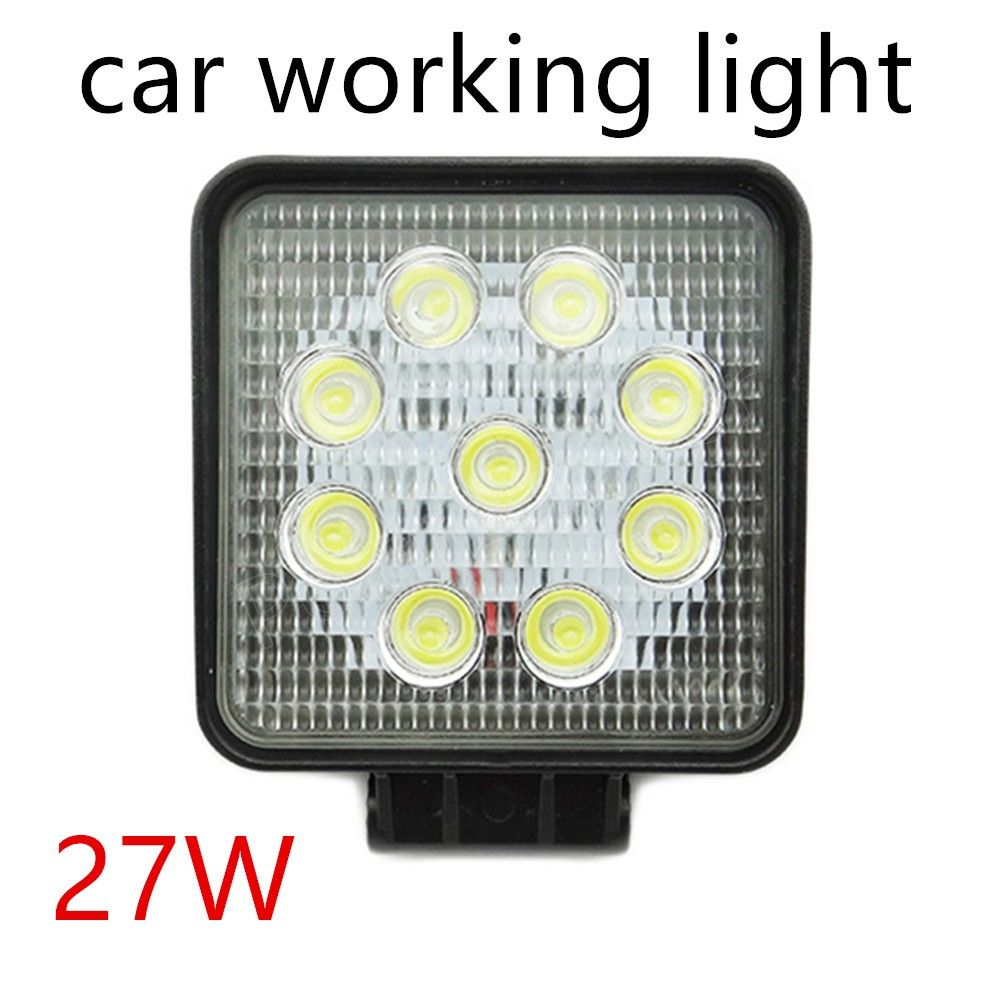 2 pieces LED Work Light 27W Offroad Spot Beam  Car Truck Driving Off-road VAT Boat Tractor best selling