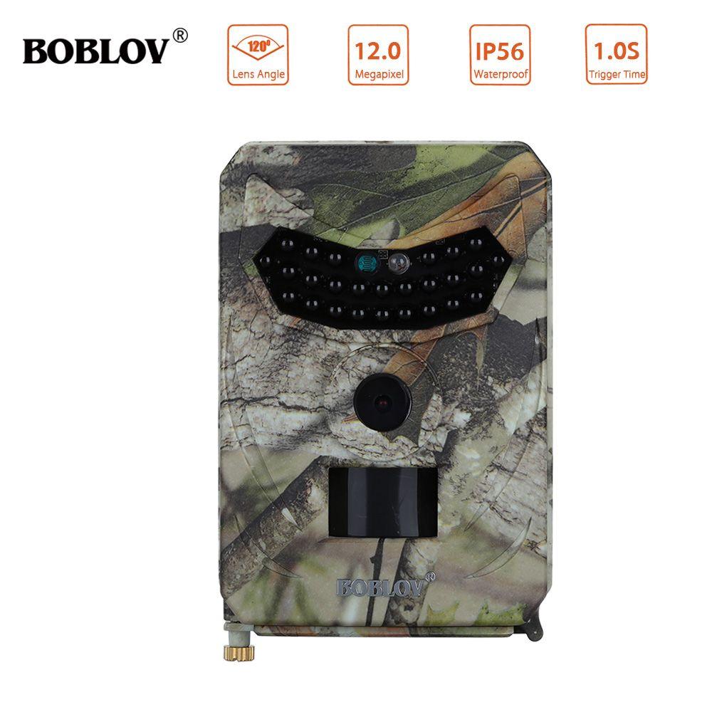 BOBLOV PR-100 Trail Camera 12MP HD 1080P IP56 Night Vision Hunting Camera Wildlife Trigger Time 120degree Wide Angle Photo Trap
