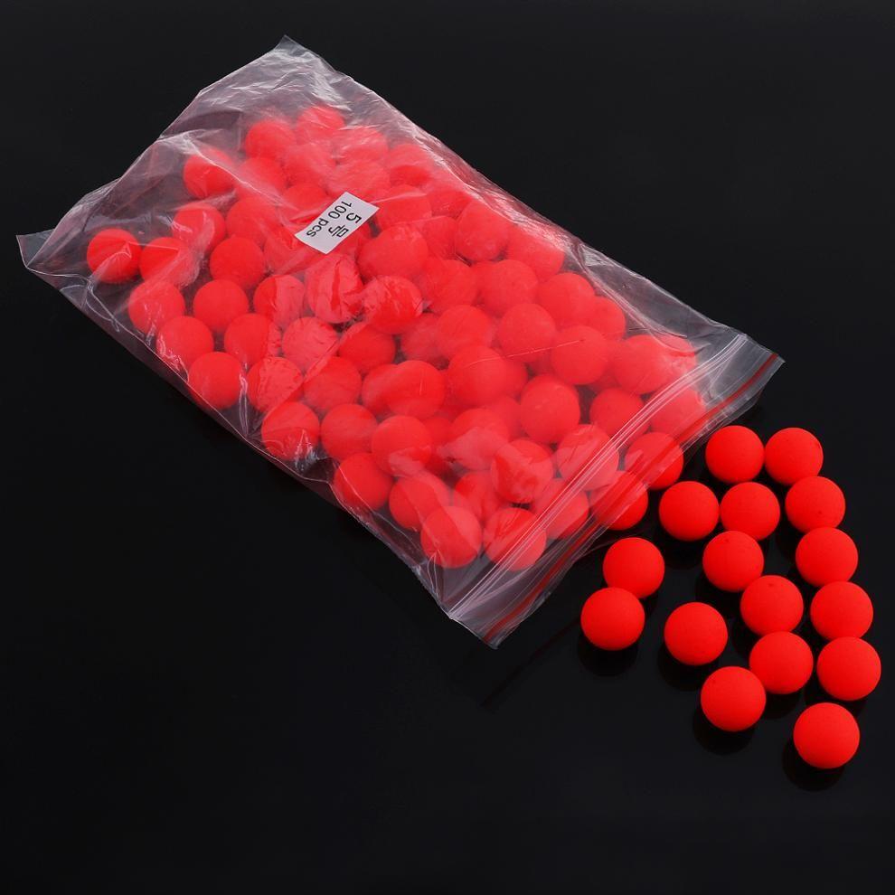Neue 5 #100 stücke Rot EPS Schaum Fischen Schwimmt Ball blickfang Bohnen für Salzwasser/Süßwasserfische