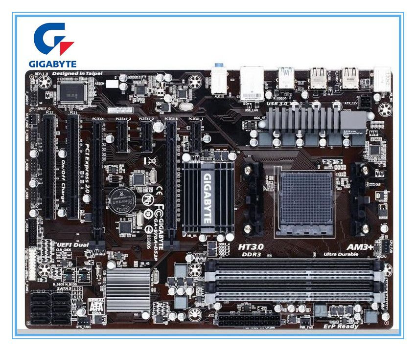 Gigabyte original motherboard GA-970A-DS3P <font><b>boards</b></font> Socket AM3/AM3+ DDR3 970A-DS3P <font><b>boards</b></font> 32GB 970 Desktop Motherboard mainboard