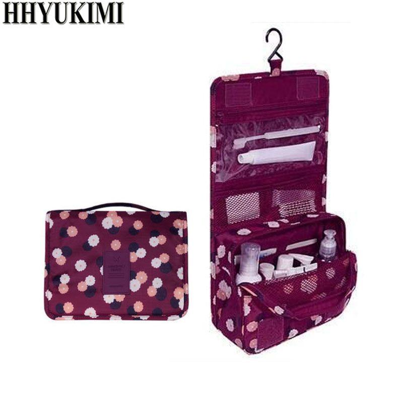 HHYUKIMI Marque Suspendus Sac Cosmétique Beauté Maquillage Sac Femmes Voyage Portable Cosmétiques Organisateur Hommes De Bain Étanche Trousse de Toilette