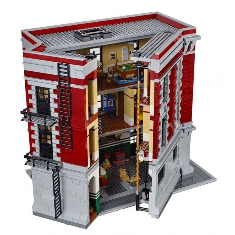 16001 4705Pcs City Street Series Ghostbusters Firehouse Headquarters Building Block Bricks Kids Toys For Gift 75827