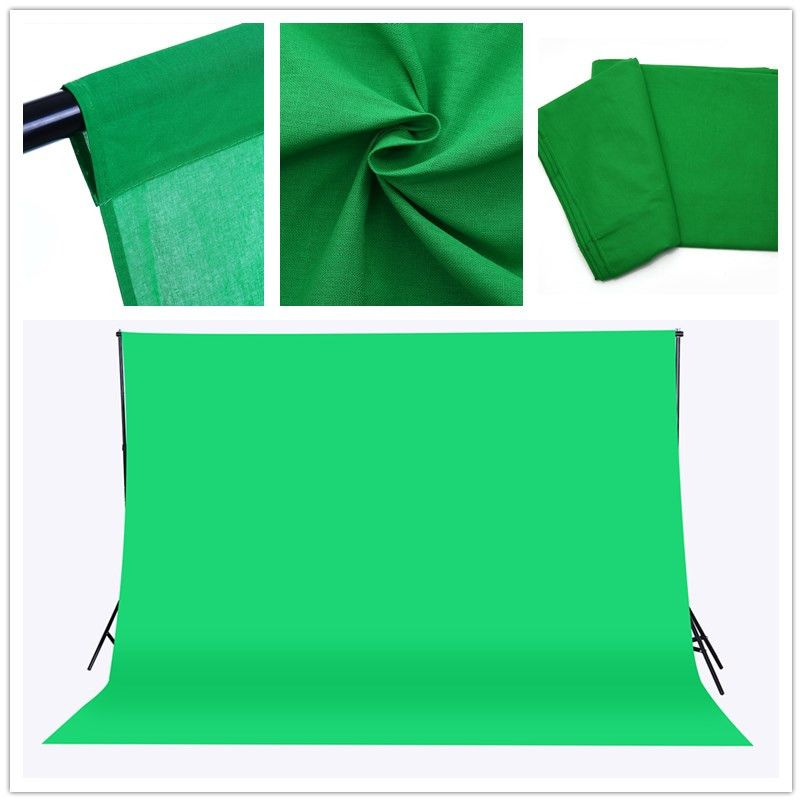 CY Free ship 3x2M Solid color Backgrounds <font><b>Green</b></font> screen cotton Muslin background Photography backdrop lighting studio Chromakey
