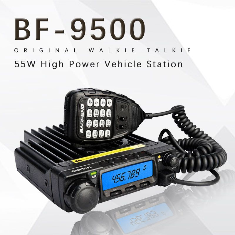 Baofeng BF-9500 Radio Transceiver UHF 400-470MHz 200CH CTCSS/DCS/DTMF Transceiver 50W/25W/10W Car Mobile Vehicle Radio Station