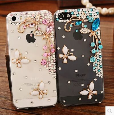 Beautiful 3D flower Rhinestone Diamond Clear Crystal Butterfly Case for Lenovo P70 S850 Vibe Shot Z90 Vibe X2 Phone Cover