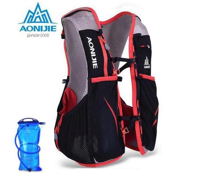 AONIJIE Männer Frauen 5L Leichte Trail Running Rucksack Outdoor Sports Wandern Racing Tasche Mit 1.5L Wasser Tasche
