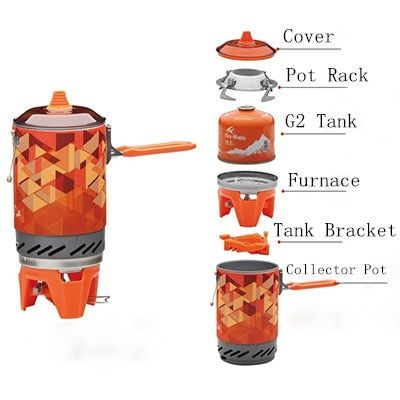 Outdoor Stove One-Piece Camping Stove Collector Pot Camping Cooking Fire Maple FMS-X2 600g 1.0L Gift Pot Rack Tank Bracket