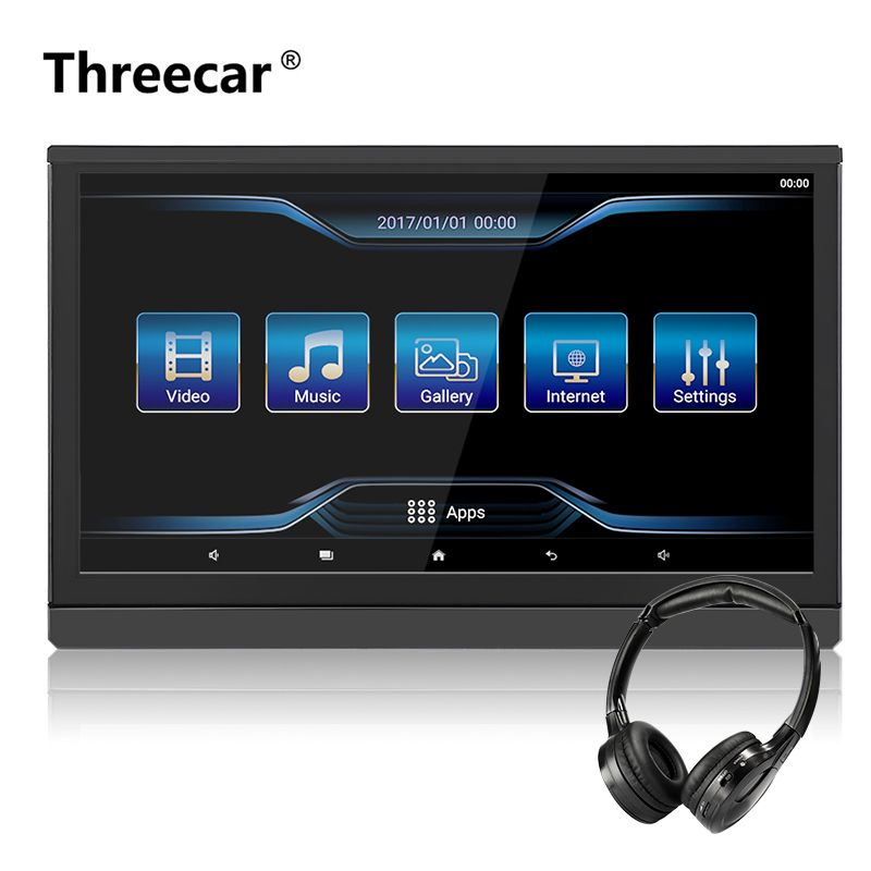 Newest 12.5'' Full HD 1920*1080P USB SD IR/FM IPS Screen android Car Headrest Monitor car android 6.0 Support WIFI /Airplay