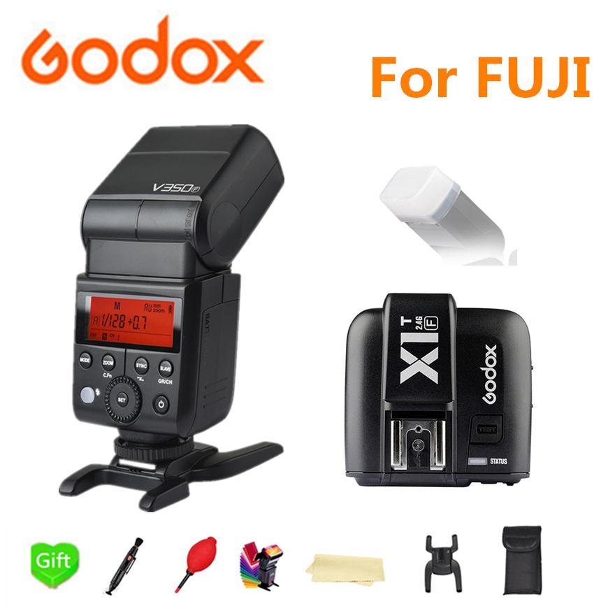Godox V350F Flash Speedlite Wireless TTL 1/8000s HSS Camera Flashes Speedlight with Li-ion Battery for Fujifilm X-T20 X-T1 X-T10