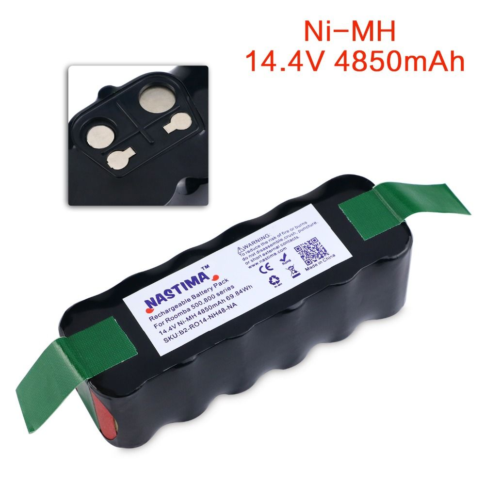 NASTIMA 14.4v 4850mAh Battery For Roomba 500 600 700 800 Series Vacuum Cleaner Robots 600 620 650 700 770 780 800 [UL&CE listed]