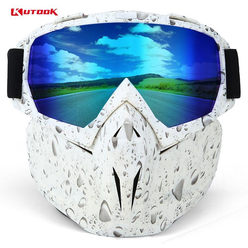 KUTOOK Coupe-Vent Moto Lunettes HD Lentilles Vélo Lunettes Hommes Wowen Extérieur Antipoussière Anti-buée Ski Snowboard Masque