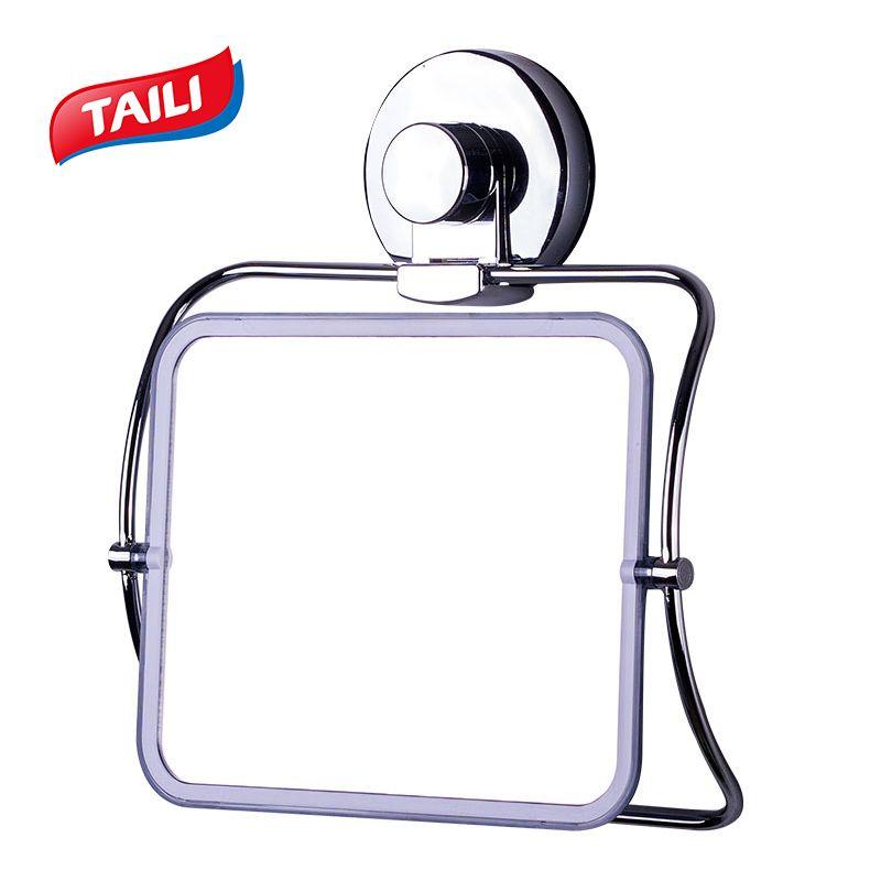Miroirs de bain chromés crochet d'aspiration fort pas de forage accessoires de salle de bain produit