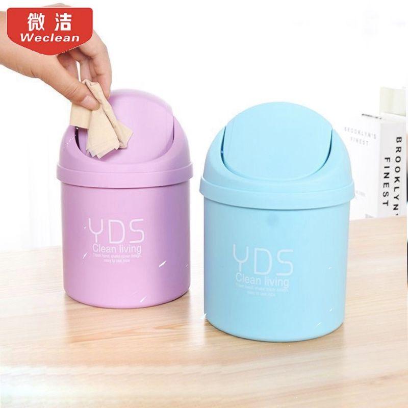 Творческий мини настольных флип мусор бытовой кухонный стол маленький мусор комнате кому не лень получать очистки ведро