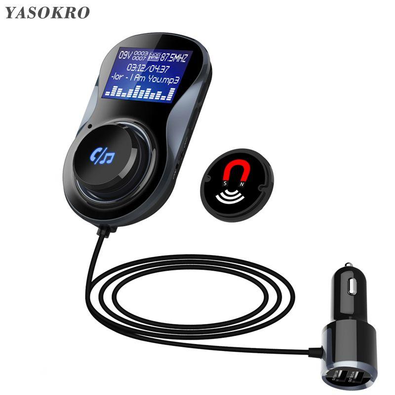 YASOKRO FM modulateur transmetteur BC30 mains libres Bluetooth Kit de voiture Support TF carte MP3 jouer voiture adaptateur Audio 3.1A chargeur de voiture