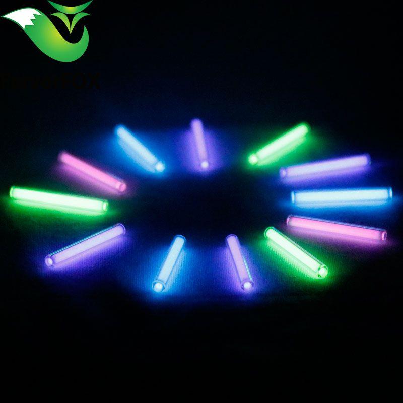1 pc 3mm * 22.5mm Automatique lumière 25 ans tritium trousseau clé anneau fluorescent tube de sauvetage d'urgence lumières
