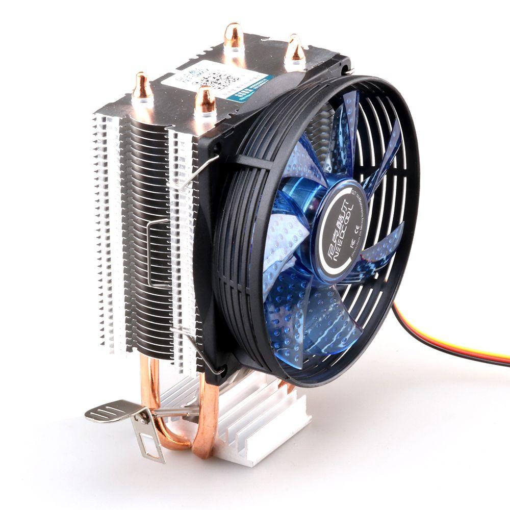 Процессорного кулера Медь двойной тепловой трубы Процессор радиатор латунь башня для вентилятора процессора Intel 775/1150/1155/1156 AMD 754/939/AM2/AM3