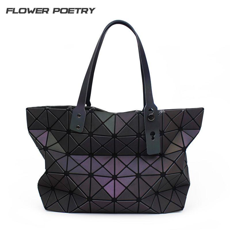 Luxury Women Handbags Designer BaoBao Geometric Quilted Luminous Shoulder Bags Women Famous Brands Tote 2018 Bag bao bao