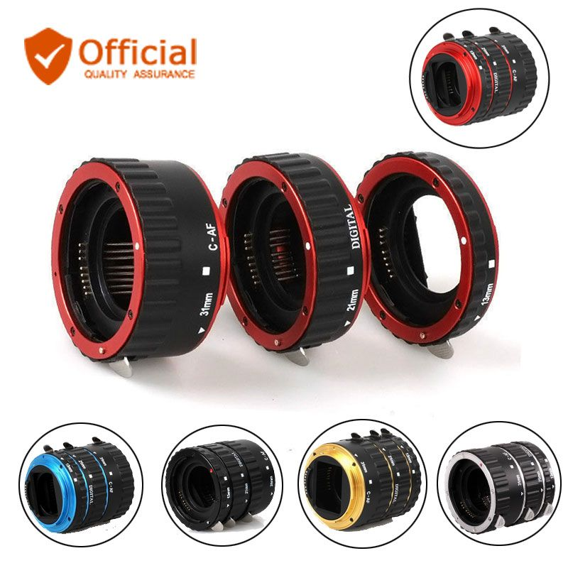 Metal TTL Auto Focus AF Macro Extension Tube Ring Lens Adapter for Canon EOS EF EF-S 1300D 800D 200D 80D 77D 70D 7D 6D 5D 5Ds