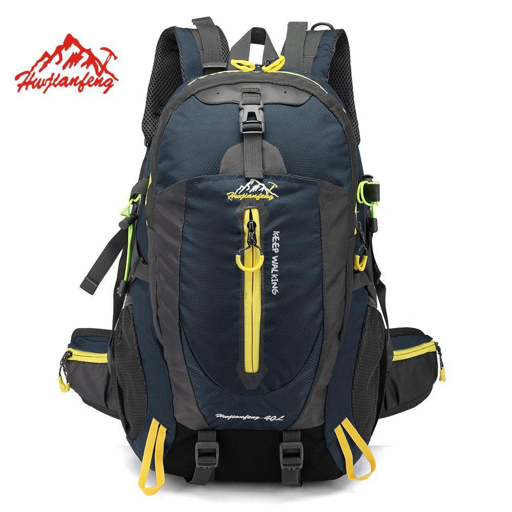 Waterproof Climbing Backpack Rucksack 40L Outdoor Sports Bag Travel Camping Hiking Backpack Women Daypack Trekking Bags For Men