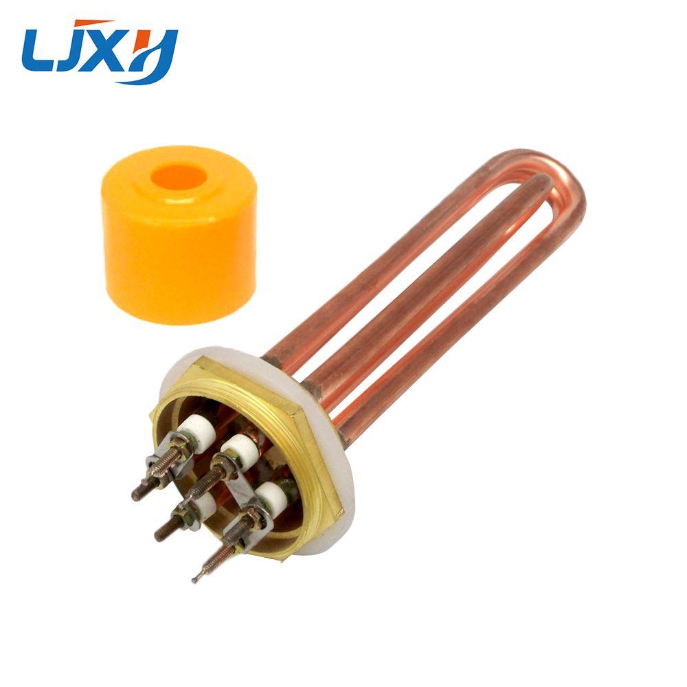 LJXH DN40/1.5inch Water Heater Element for Boiler Hexagon Thread Heaters 110V/220V/380V Copper Thread Copper Tube 3KW/4.5/6/9/12