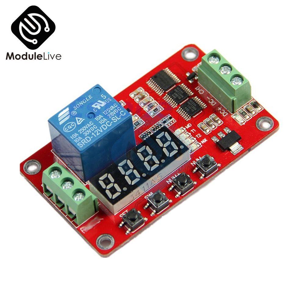 12 v DC Multifunktions Selbst-lock Relais PLC Zyklus Verzögerung Zeit Timer Schalter Modul PLC Home Automation Verzögerung Modul bord