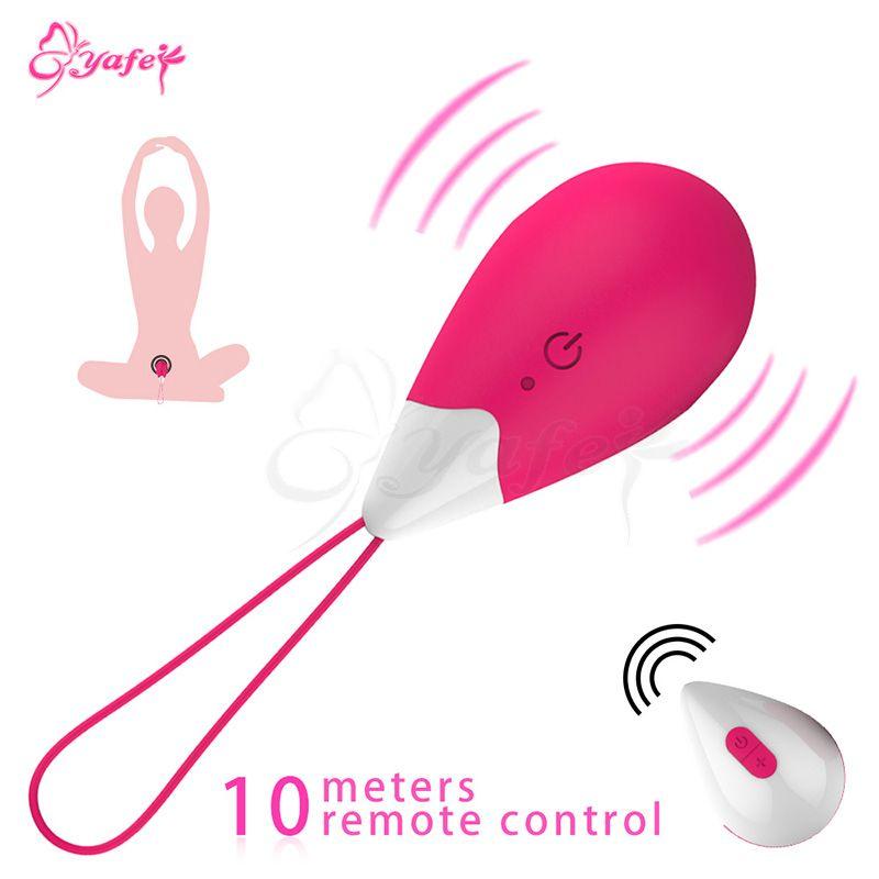 10 vitesses sans fil télécommande vibrant oeuf vibrateur Kegel balles vagin exercice serré Ben wa ball adultes jouets sexuels pour les femmes