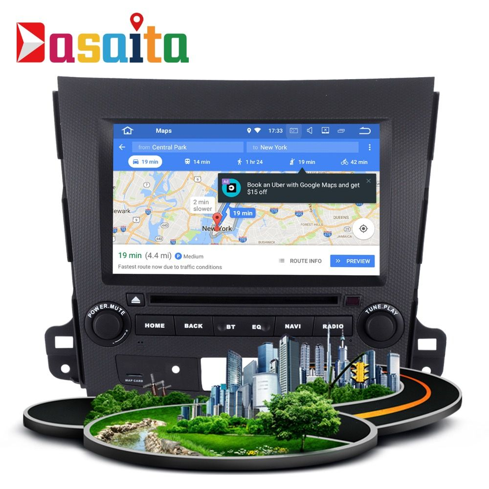 Car 2 din android GPS for Mitsubishi Outlander auto radio navigation head unit multimedia IPS Screen 4Gb+32Gb Android 8.0 8-Core