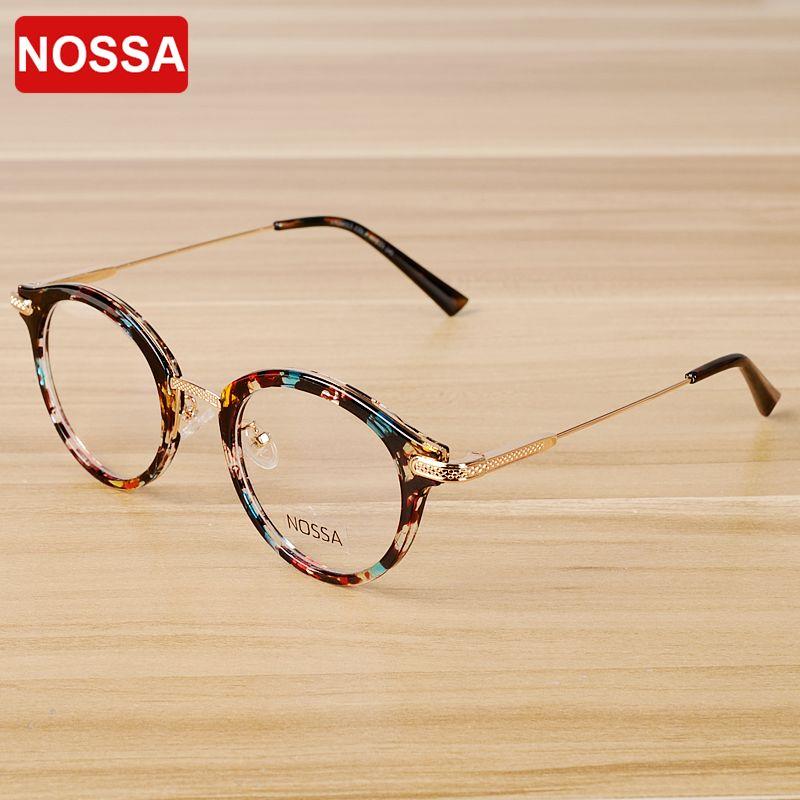 NOSSA Vintage Floral lunettes cadre femmes hommes rétro lunettes cadres classique unisexe optique Prescription lunettes cadre lunettes