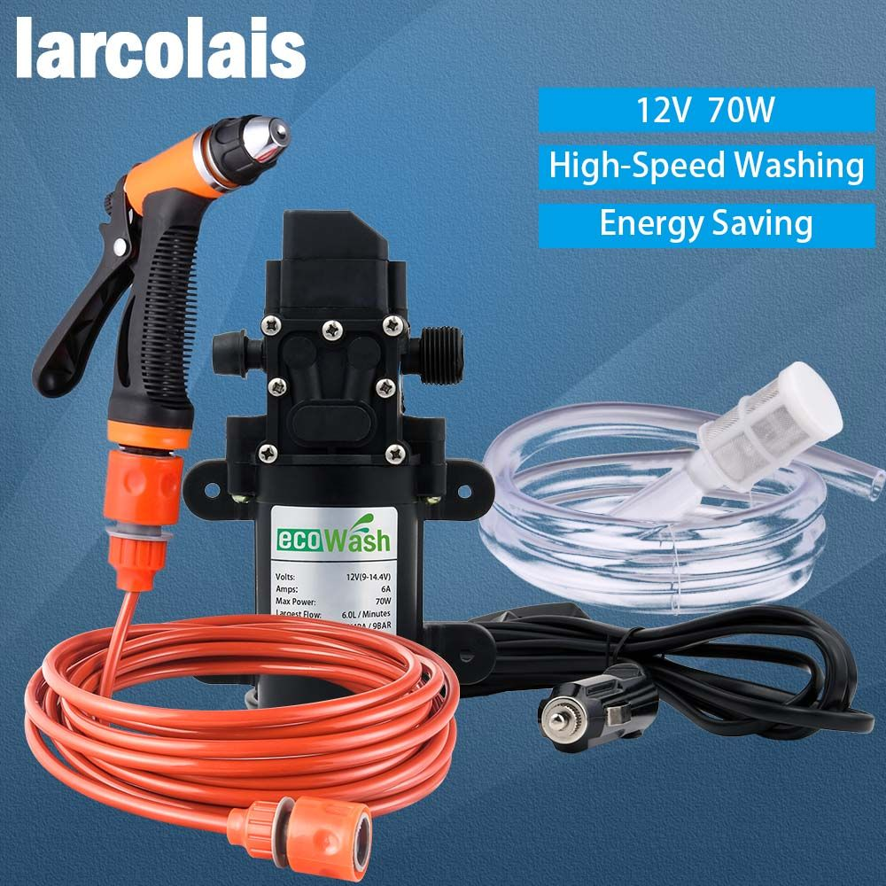 12V Car Washer Gun <font><b>Pump</b></font> High Pressure Cleaner Car Care Portable Washing Machine Electric Cleaning Auto Device Self-priming Tool