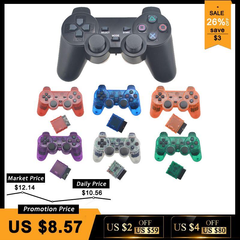Pour PS2 Sans Fil Contrôleur Gamepad Manette Pour Playstation 2 Controle Mando Sans Fil Joystick Pour PS2 Console Accessoire
