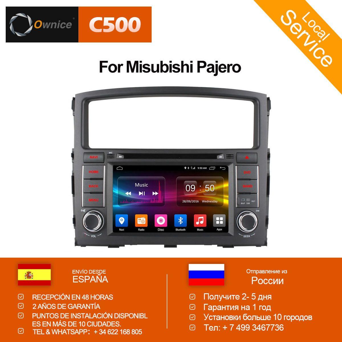 Ownice C500 Octa 8 Core Android 6.0 Für MITSUBISHI PAJERO V97 V93 2006-2015 Auto DVD Player GPS Navi unterstützung 4g DAB + TPMS 32g ROM