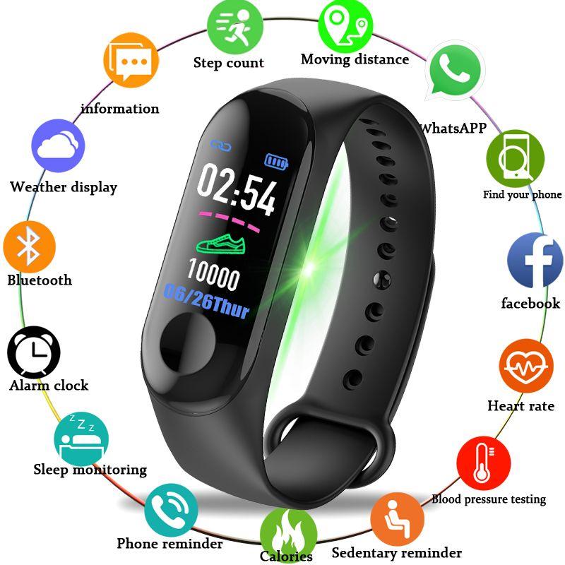 BANGWEI 2018 New Women Sport Waterproof Watch Blood Pressure Heart Rate Monitor Smart Watch Men Fitness tracker pedometer Watch