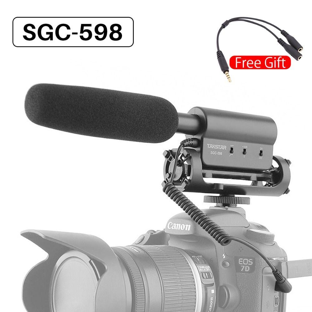 Takstar SGC-598 Video Microphone Camera Interview Video Recording Vlog Mic for DSLR Camera Nikon Canon Condenser Microphone