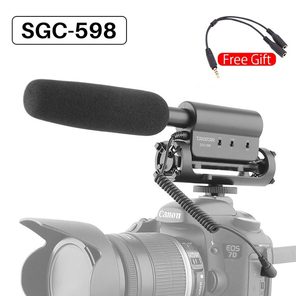 Takstar SGC-598 Video Microphone Camera Interview Video Recording Vlog Mic for DSLR Camera Nikon Canon Condenser Microphone