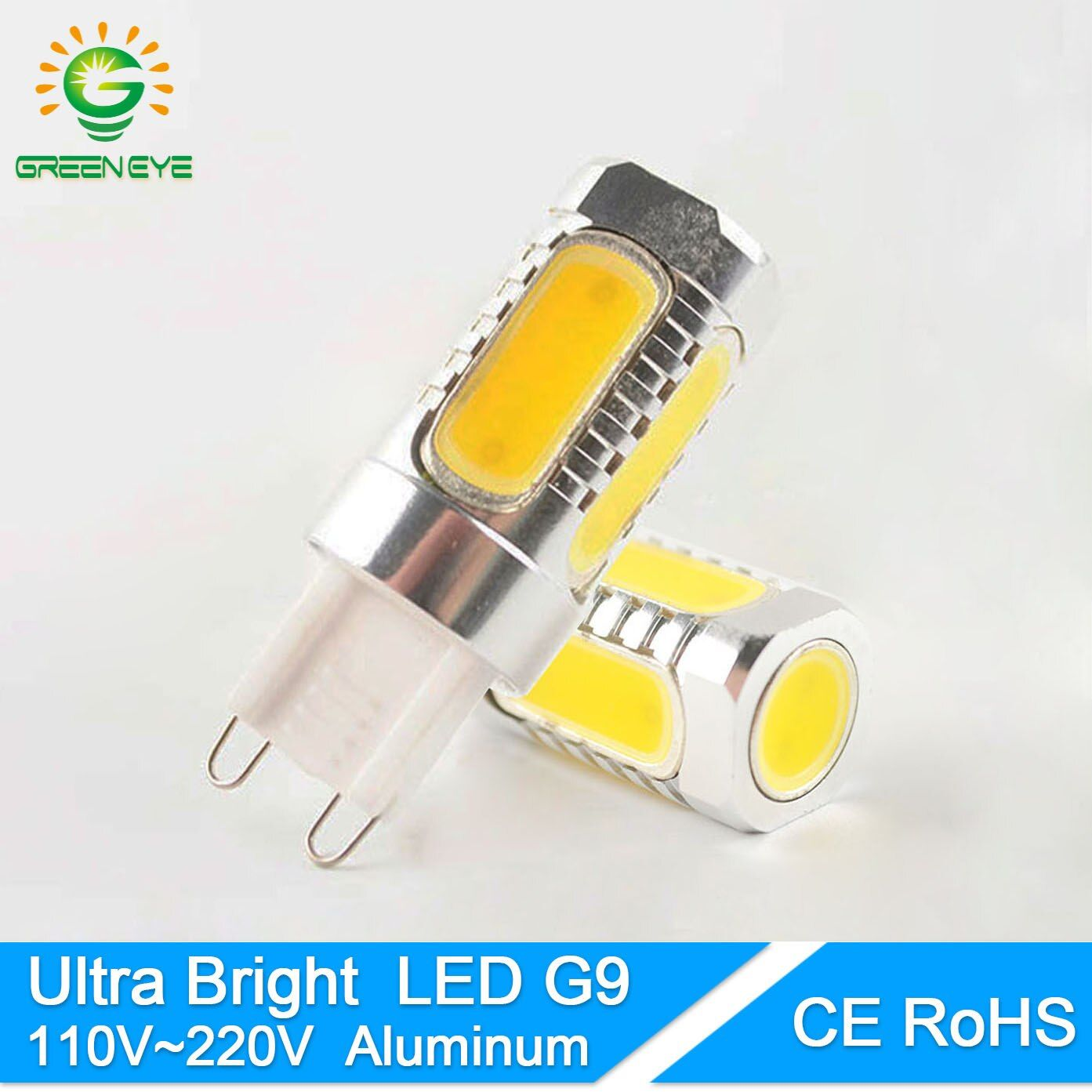 GreenEye Aluminium G9 LED-Licht 12 Watt 110 V 220 V COB LED G9 Lampe Kristall Mais-birnen-droplight Kronleuchter scheinwerfer Ersetzen Halogen