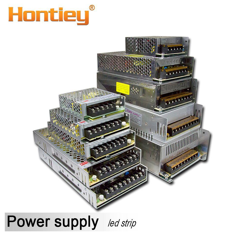Hontiey Transformateurs D'éclairage AC 12 V led Bande Pilote DC 110 V 220 V alimentation 50 W-720 W 5A 10A 20A 30A 40A 60A