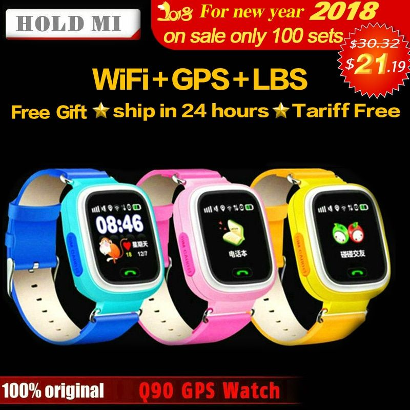 HoldMi Q90 GPS Child Smart Watch Phone Position Children Watch 1.22inch Color Touch <font><b>Screen</b></font> WIFI SOS Smart Baby Watch Q80 Q50 Q60