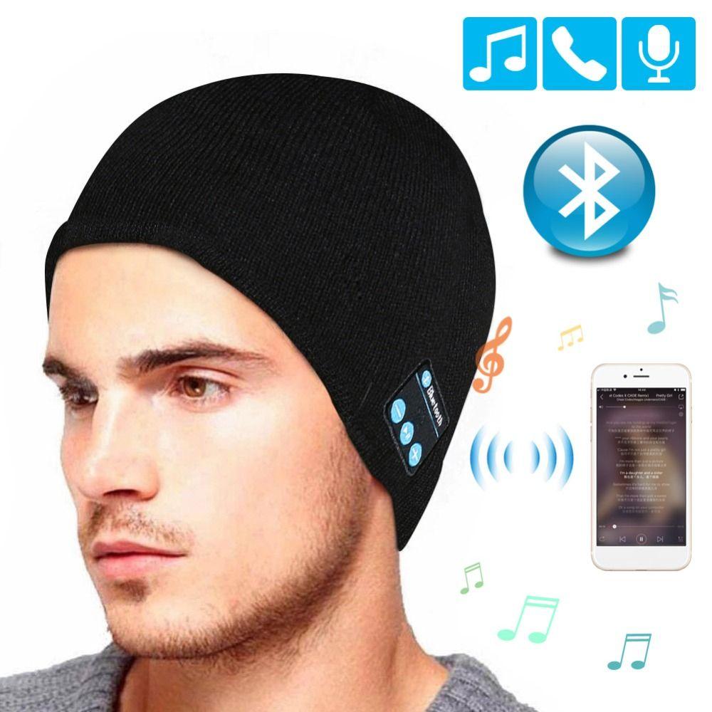 Sans fil Bluetooth casque Musique chapeau Casquettes Smart Casque écouteur Chaud Bonnets d'hiver Chapeau avec Haut-Parleur Micro pour les sports