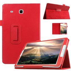 Одежда высшего качества смарт PU кожаный чехол для Samsung Galaxy Tab E 9.6 T560 t561 Планшеты случае Планшеты тонкий защитной оболочки + ручка + пленка